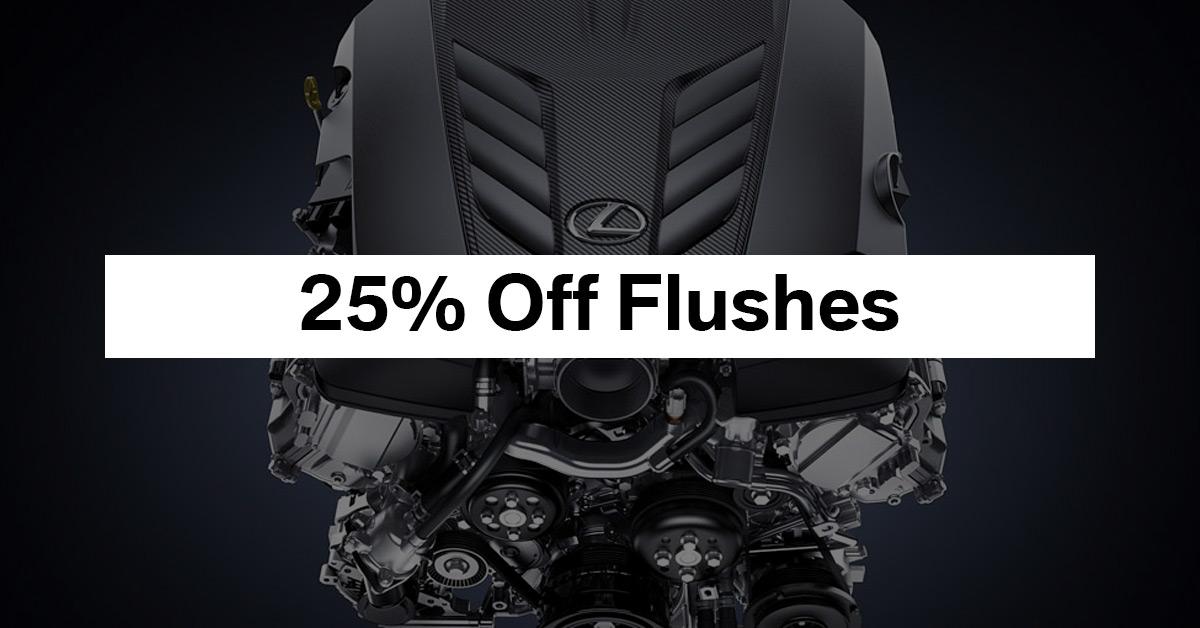 25% Off Flushes