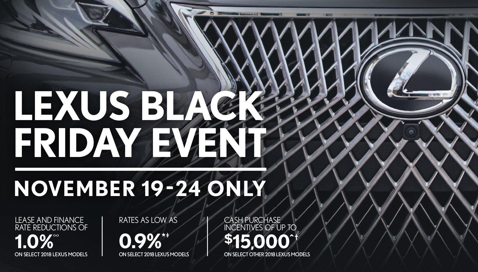 Lexus Black Friday Event at Lexus of Lakeridge