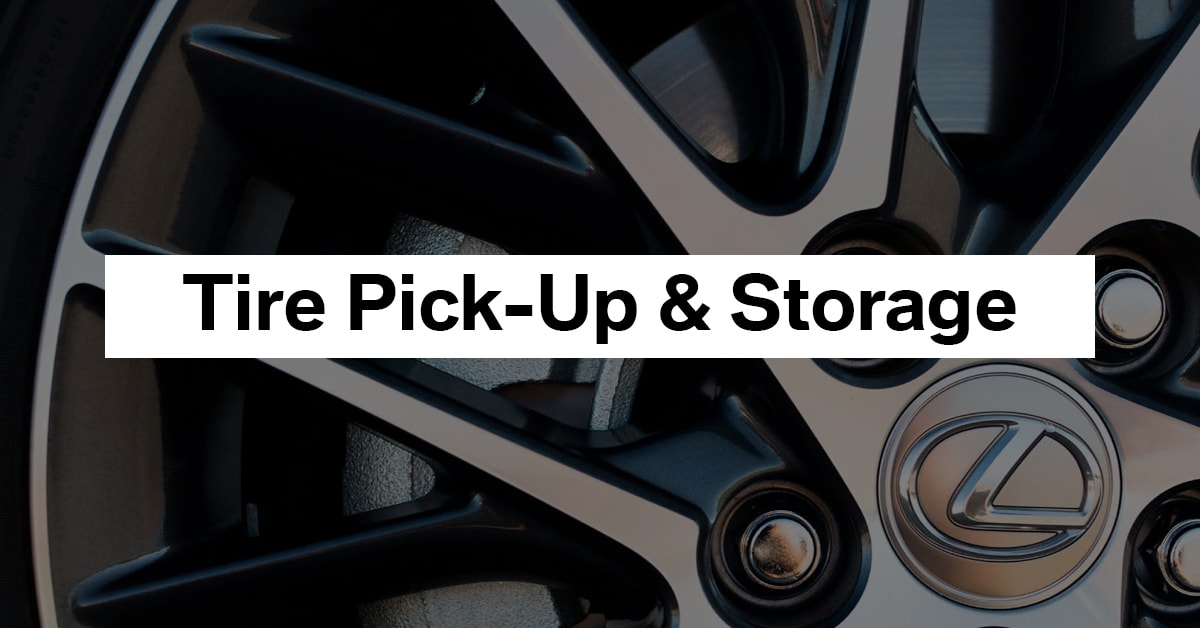 Storing Your Tires Elsewhere?