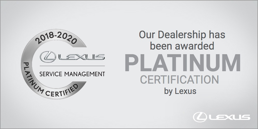 Our Service Department was just awarded platinum status.